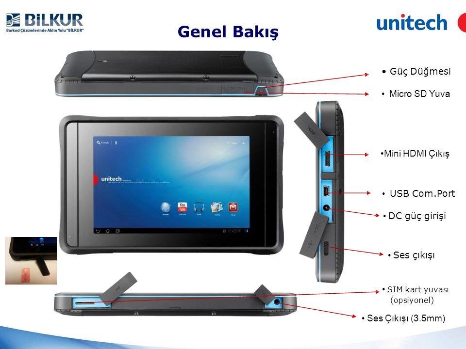 Özellikler ve Faydaları I/O Port 1 adet DC-IN Jack İletişim için birçok giriş ve çıkış portu destekler.