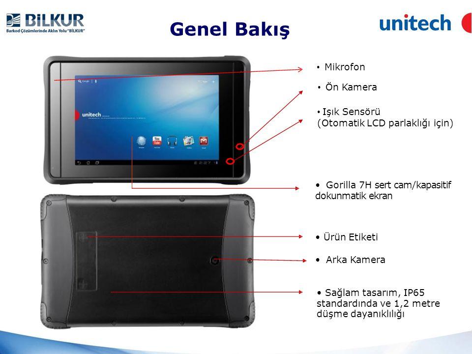 • Power Key Genel Bakış • Güç Düğmesi • Micro SD Yuva • Mini HDMI Çıkış • USB Com.Port • DC güç girişi • Ses çıkışı • SIM kart yuvası (opsiyonel) • Ses Çıkışı (3.5mm)
