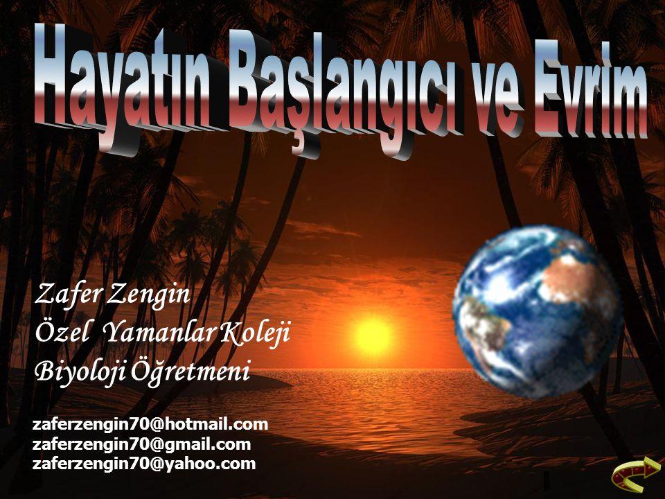 Zafer Zengin Özel Yamanlar Koleji Biyoloji Öğretmeni zaferzengin70@hotmail.com zaferzengin70@gmail.com zaferzengin70@yahoo.com