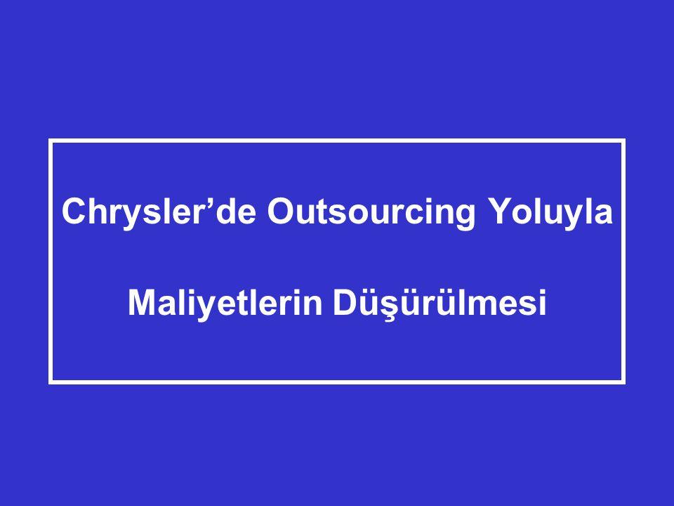 Chrysler'de Outsourcing Yoluyla Maliyetlerin Düşürülmesi