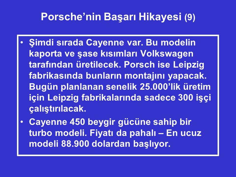 Porsche'nin Başarı Hikayesi (9) •Şimdi sırada Cayenne var.