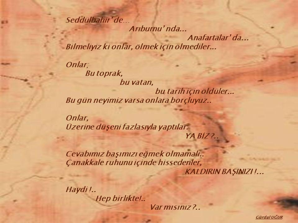 Seddülbahir' de… Arıburnu' nda...Anafartalar' da...