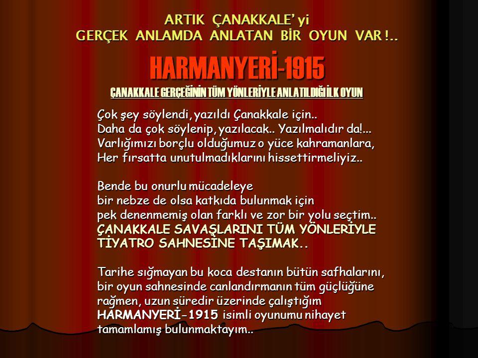 ARTIK ÇANAKKALE' yi GERÇEK ANLAMDA ANLATAN BİR OYUN VAR !..