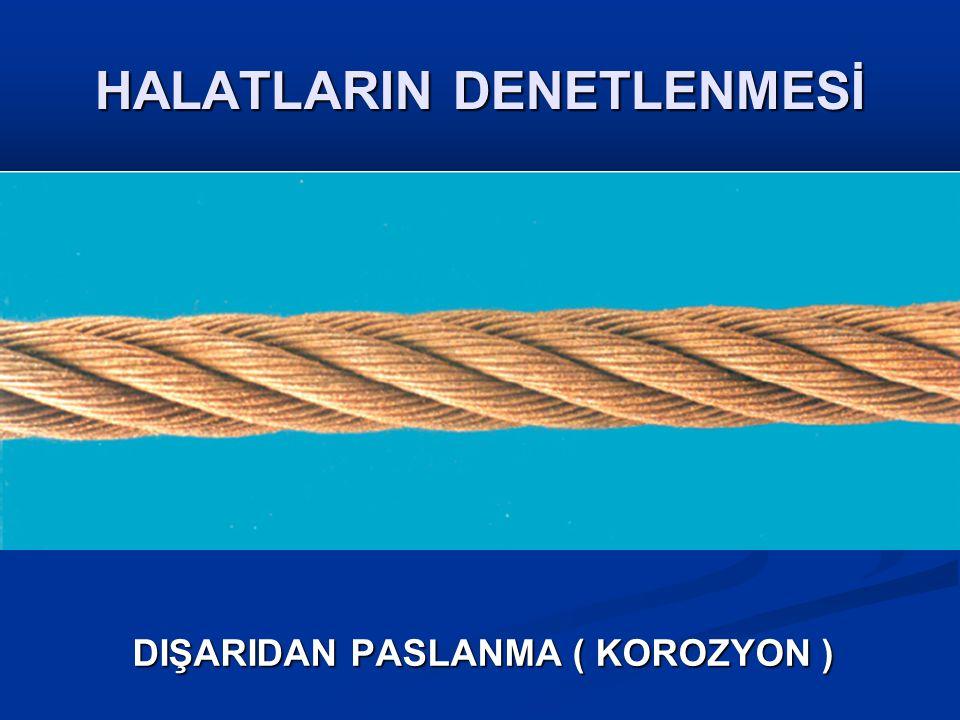 HALATLARIN DENETLENMESİ DIŞARIDAN PASLANMA ( KOROZYON )
