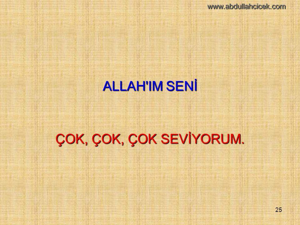 25 ALLAH'IM SENİ ÇOK, ÇOK, ÇOK SEVİYORUM. www.abdullahcicek.com