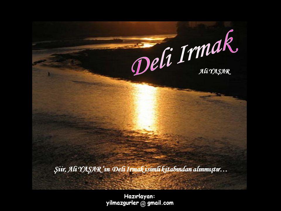 Ali YAŞAR Şiir, Ali YAŞAR 'ın Deli Irmak isimli kitabından alınmıştır… Hazırlayan: yilmazgurler gmail.com
