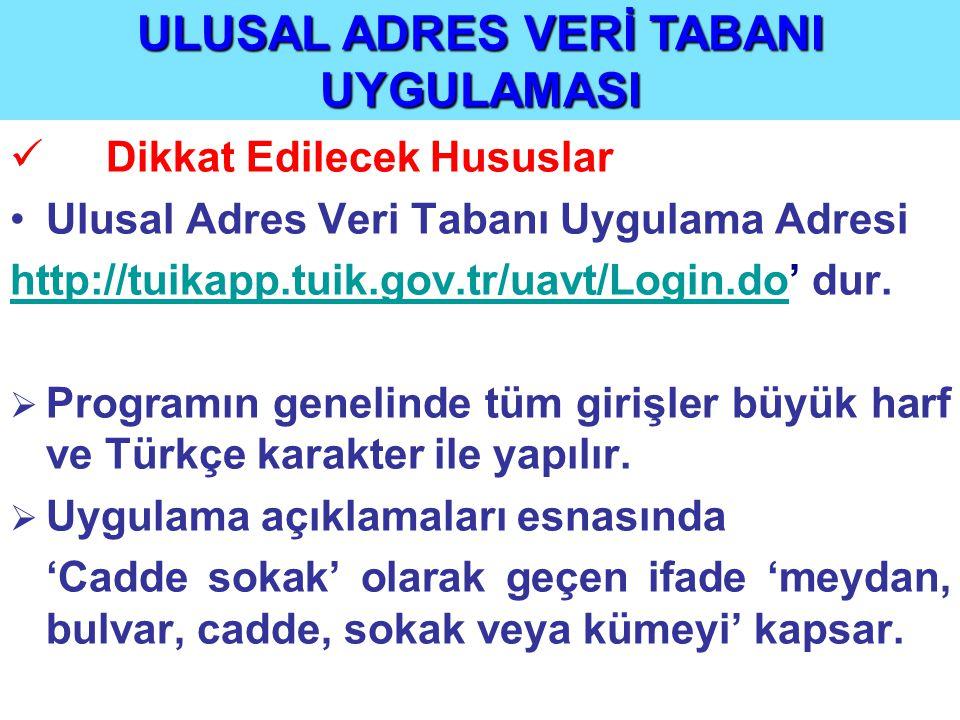 ÖRNEK 9 devam : ÖRNEK 9 devam : Aşağıdaki örnekte görüldüğü gibi Ankara, Kazan belediyesi Aydın mahallesindeki 1, 2 sokakların, Aralık küme evlerin ve Ceylan sokağın tanıtım numaraları sırasıyla 1- 2- 3- ve 4 olarak girilerek, 'Kaydet' komutu tıklandığında tanıtım numarası verilme işlemi tamamlanmış olur.