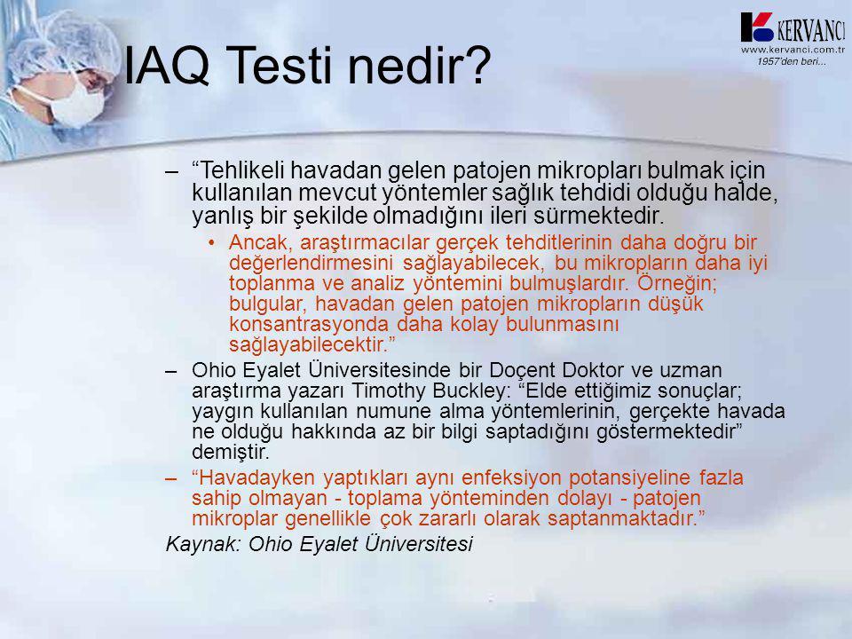 """IAQ Testi nedir? –""""Tehlikeli havadan gelen patojen mikropları bulmak için kullanılan mevcut yöntemler sağlık tehdidi olduğu halde, yanlış bir şekilde"""