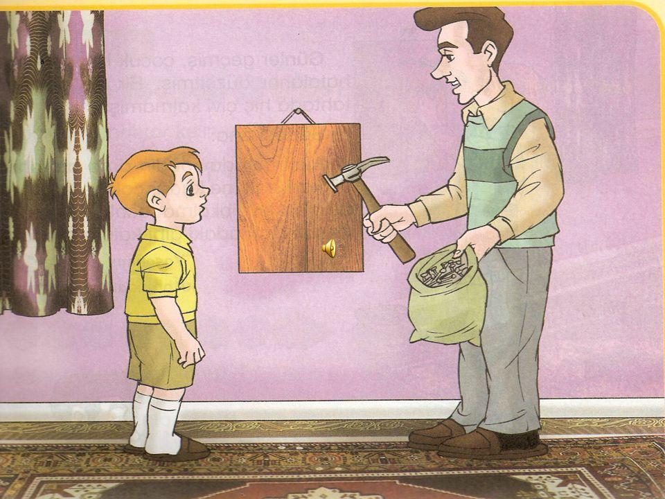 Yaramaz bir çocuk varmış. Bir gün babası ona çivilerle dolu bir torba verip: ÇİVİ