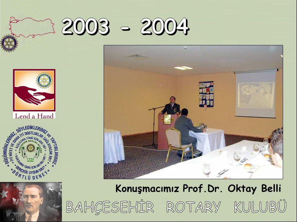 Konuşmacımız Prof.Dr. Oktay Belli