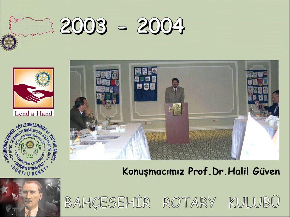 Konuşmacımız Prof.Dr.Halil Güven