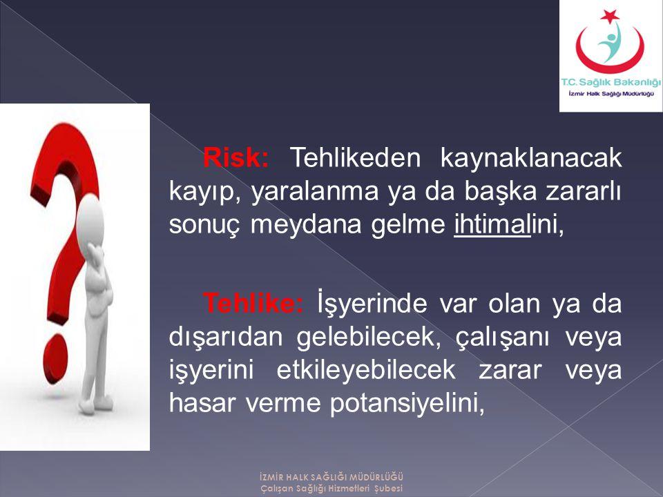 30/6/2012 tarih ve 6331 sayılı İŞ SAĞLIĞI VE GÜVENLİĞİ KANUNU kapsamındaki işyerlerini kapsar.
