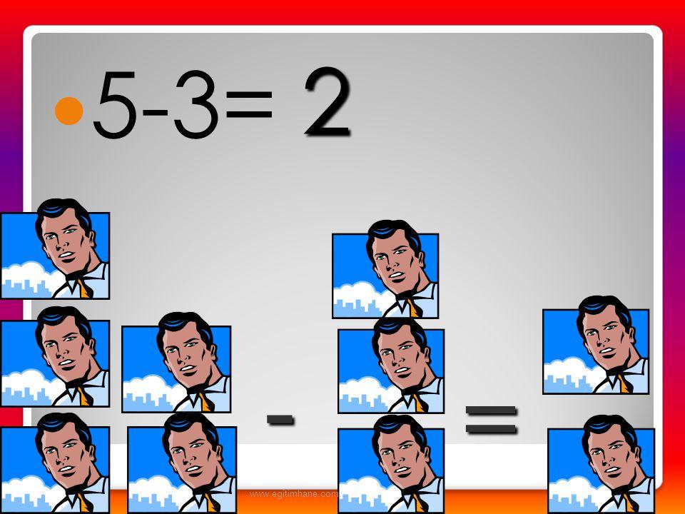  5-2= - = 3...www.egitimhane.com...