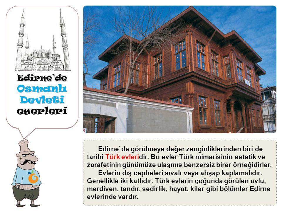 Edirne'de Osmanlı Devleti Osmanlı Devleti eserleriEdirne'de Arasta çarşılarda aynı işi yapan esnafın bulunduğu bölüm Arasta Çarşısı, Sultan III.Murat zamanında Selimiye Camisi ne gelir sağlamak amacıyla yaptırılmıştır.