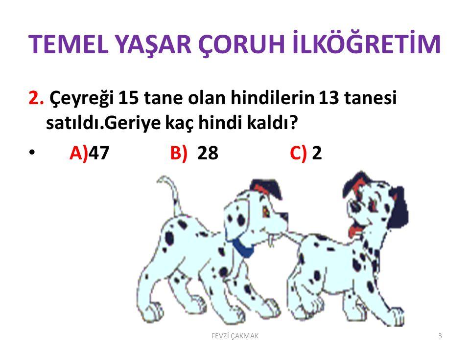 TEMEL YAŞAR ÇORUH İLKÖĞRETİM 2.
