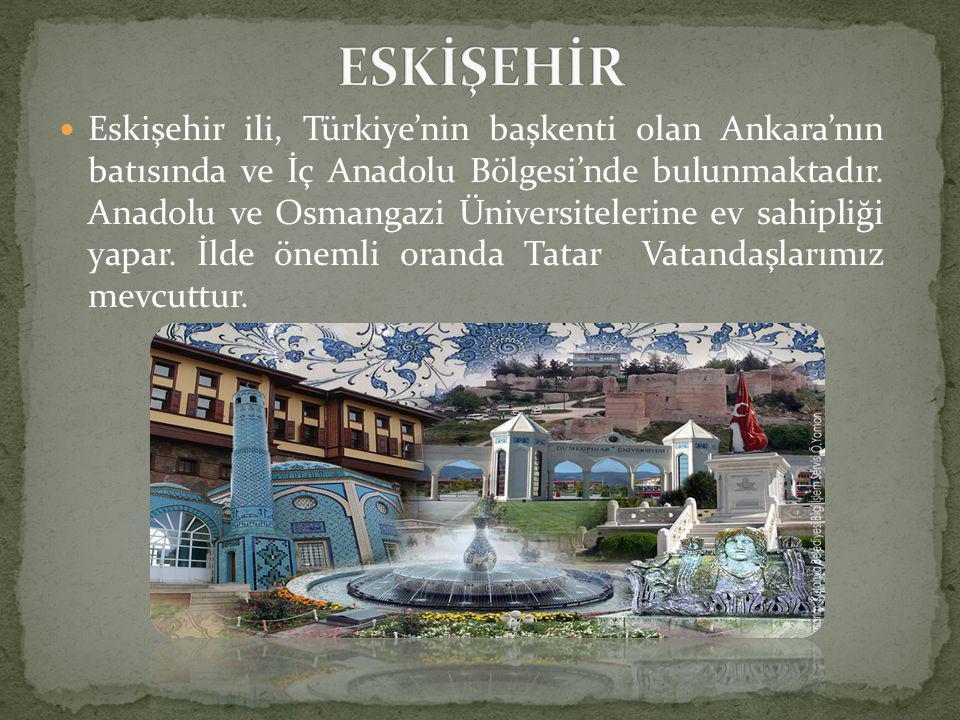  Eskişehir ili, Türkiye'nin başkenti olan Ankara'nın batısında ve İç Anadolu Bölgesi'nde bulunmaktadır.