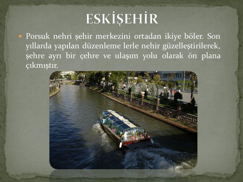 Porsuk nehri şehir merkezini ortadan ikiye böler.