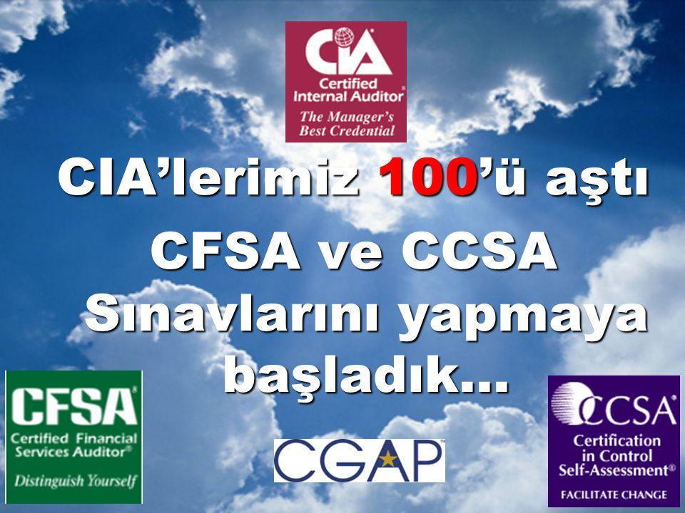 CIA'lerimiz 100'ü aştı CFSA ve CCSA Sınavlarını yapmaya başladık...