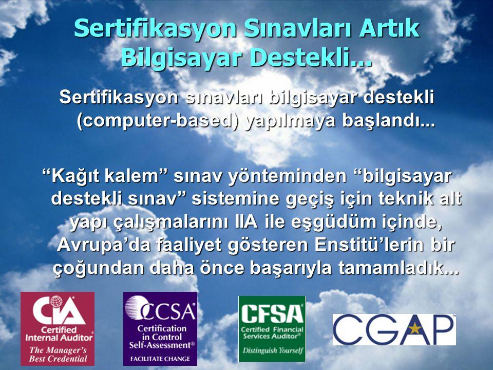 """Sertifikasyon Sınavları Artık Bilgisayar Destekli... Sertifikasyon sınavları bilgisayar destekli (computer-based) yapılmaya başlandı... """"Kağıt kalem"""""""