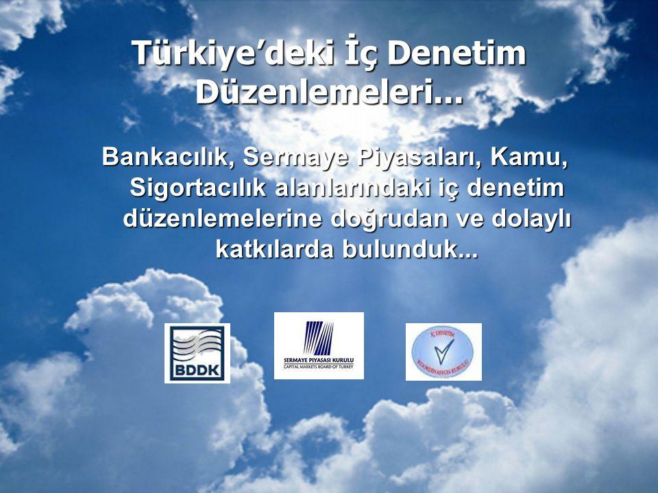 Türkiye'deki İç Denetim Düzenlemeleri... Bankacılık, Sermaye Piyasaları, Kamu, Sigortacılık alanlarındaki iç denetim düzenlemelerine doğrudan ve dolay