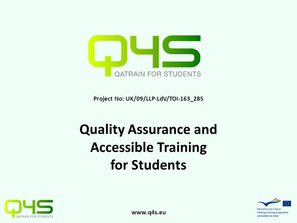 www.q4s.eu Project Partners PROODOS A.E. Centre of Vocational Training