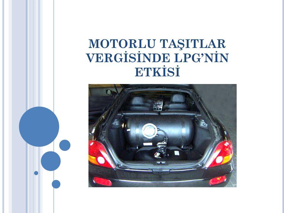 MOTORLU TAŞITLAR VERGİSİNDE LPG'NİN ETKİSİ