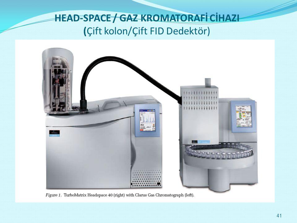 HEAD-SPACE / GAZ KROMATORAFİ CİHAZI (Çift kolon/Çift FID Dedektör) 41