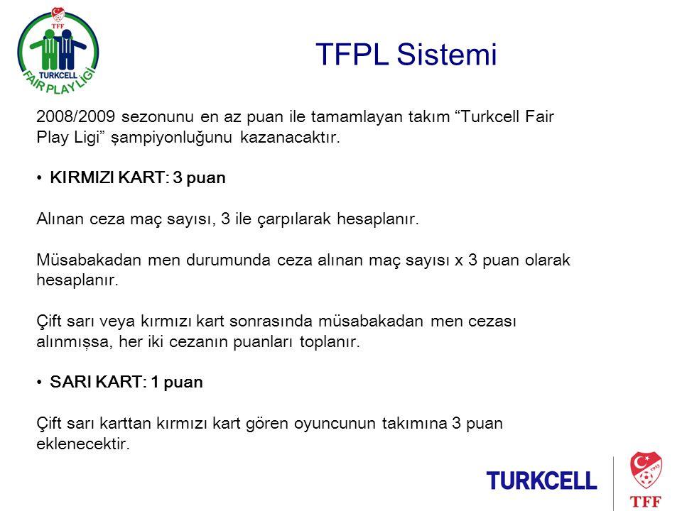 TFPL Sistemi •SAHA KAPATMA: Ceza maç sayısı x 5 puan olarak hesaplanacak tır.