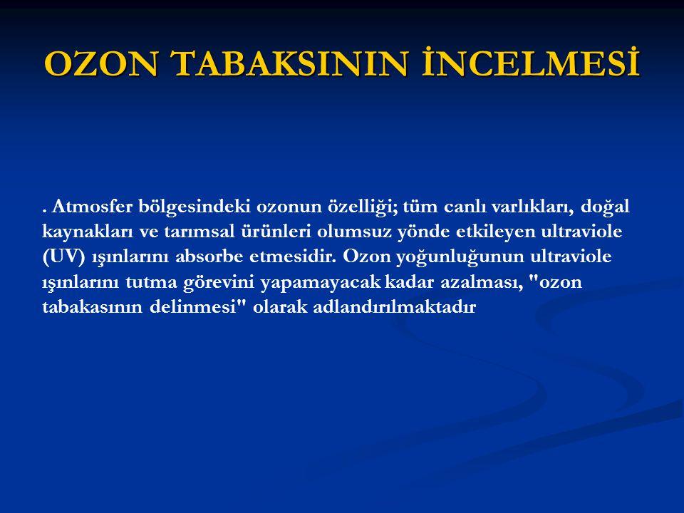 OZON TABAKSININ İNCELMESİ.