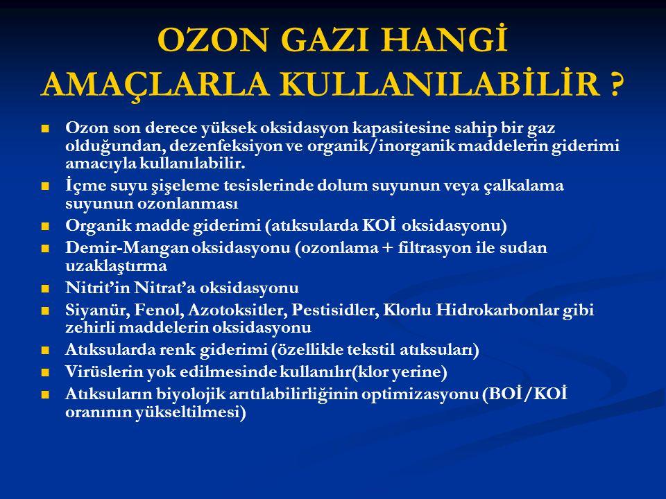 OZON GAZI HANGİ AMAÇLARLA KULLANILABİLİR .
