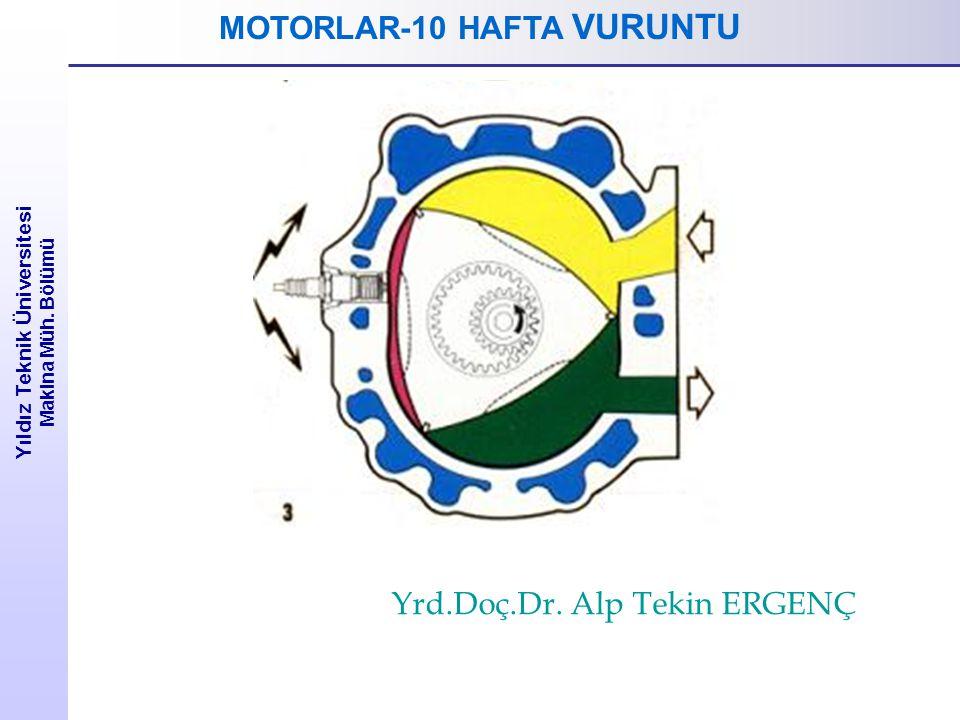 Yıldız Teknik Üniversitesi Makina Müh. Bölümü MOTORLAR-10 HAFTA VURUNTU Yrd.Doç.Dr. Alp Tekin ERGENÇ