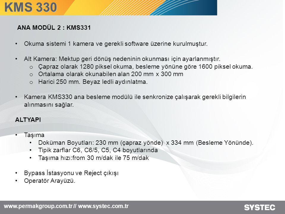 www.permakgroup.com.tr // www.systec.com.tr •Okuma sistemi 1 kamera ve gerekli software üzerine kurulmuştur. •Alt Kamera: Mektup geri dönüş nedeninin