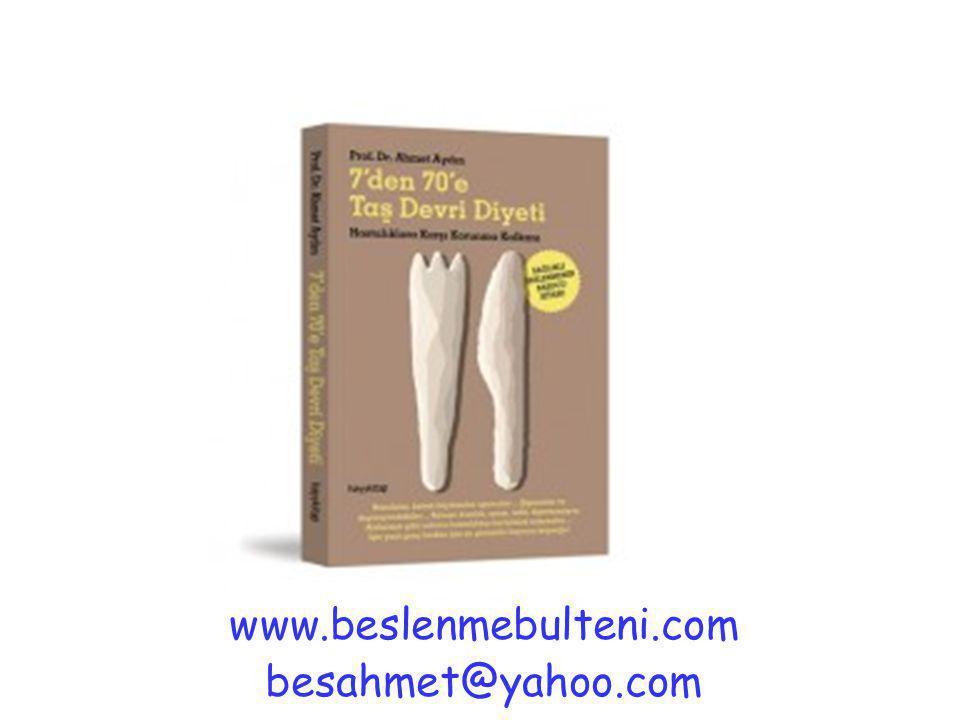 www.beslenmebulteni.com besahmet@yahoo.com