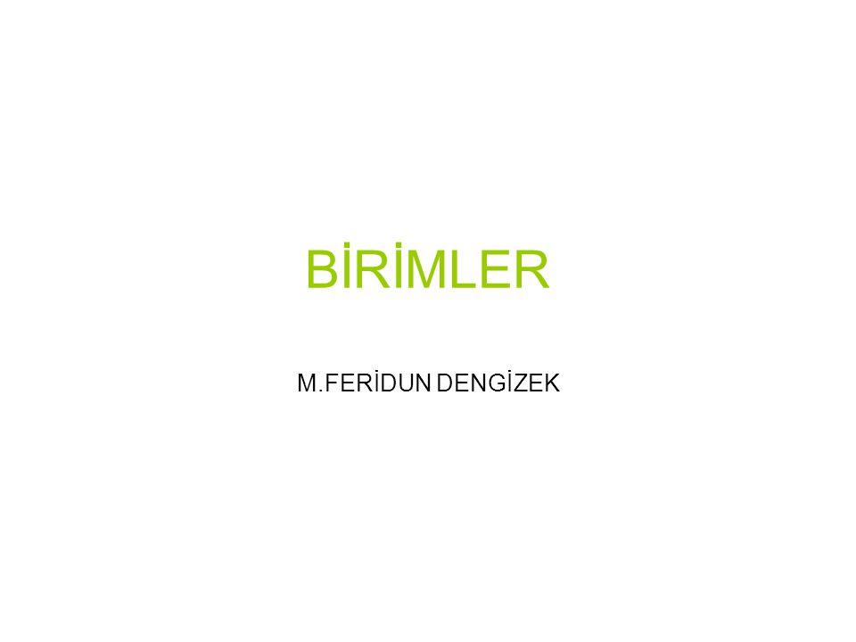 BİRİMLER M.FERİDUN DENGİZEK
