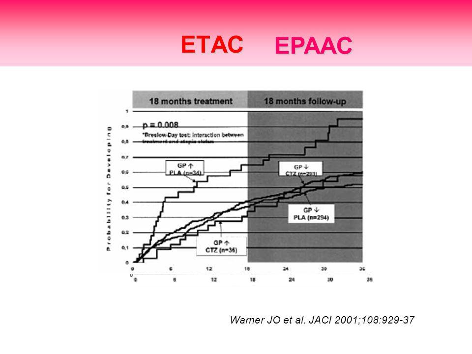 ETAC Warner JO et al. JACI 2001;108:929-37 EPAAC