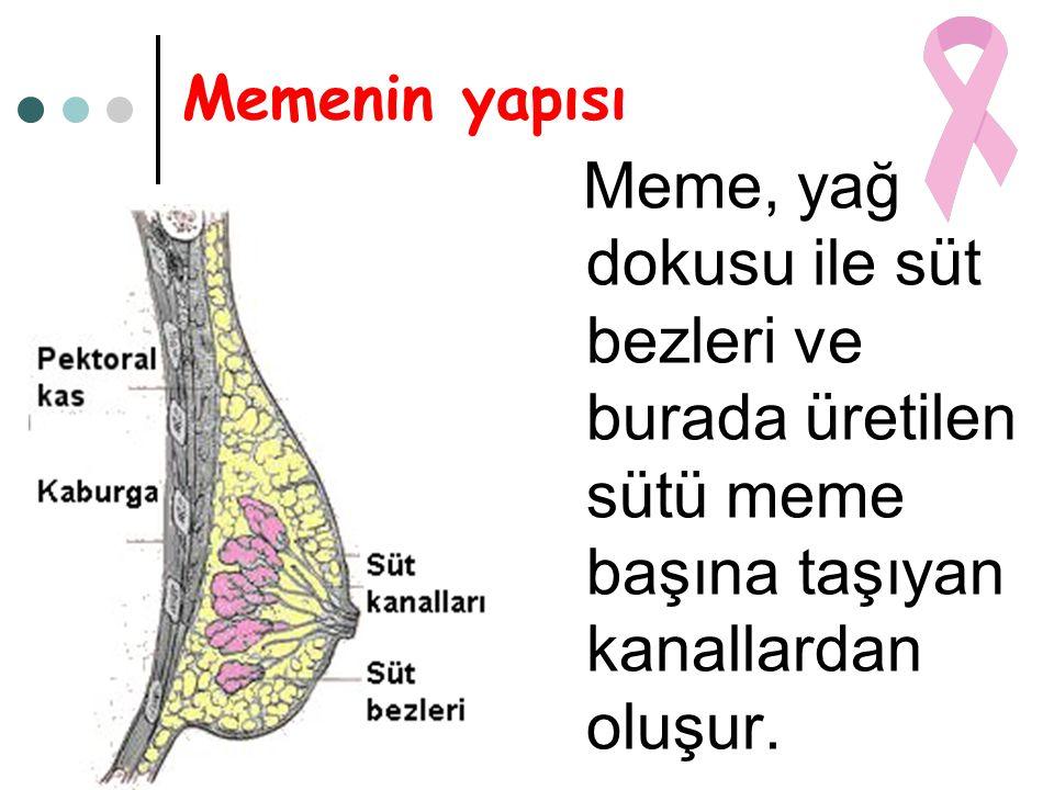Meme kitleleri Memedeki kitleler dört ana başlık altındadır: • Kistler, • Fibroadenom, • Yalancı kitleler, • Kanser.