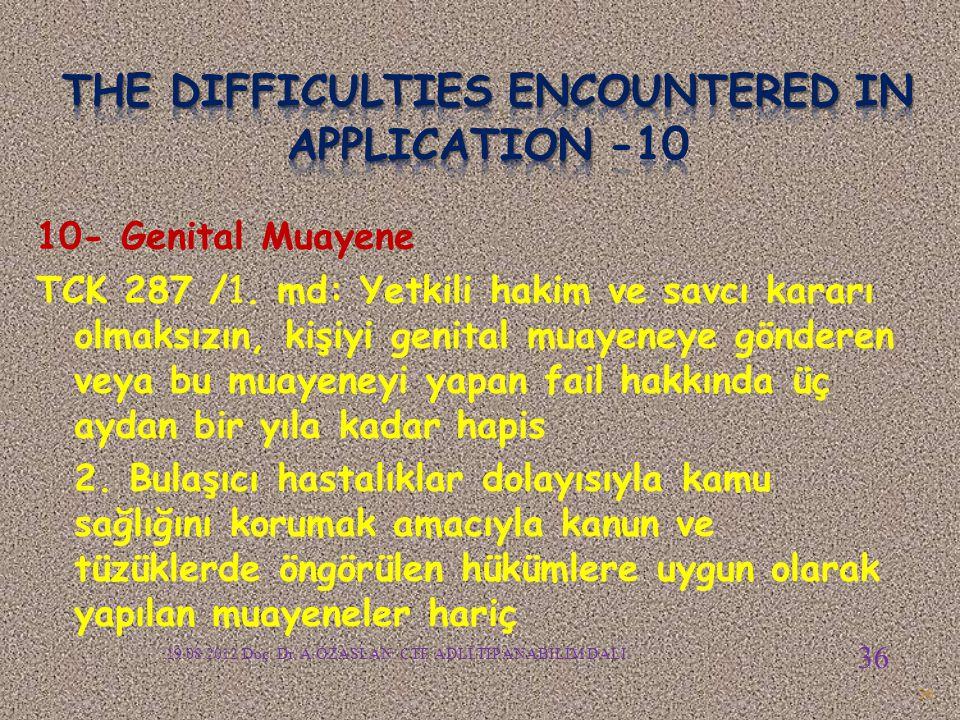 10- Genital Muayene TCK 287 /1.