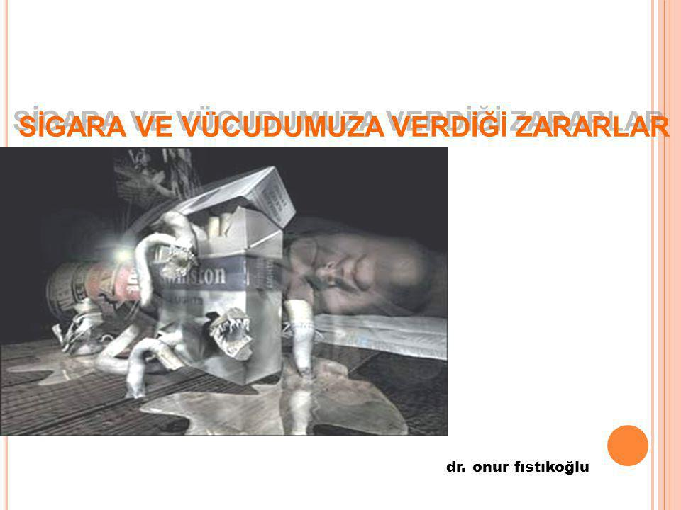 SİGARA VE VÜCUDUMUZA VERDİĞİ ZARARLAR dr. onur fıstıkoğlu