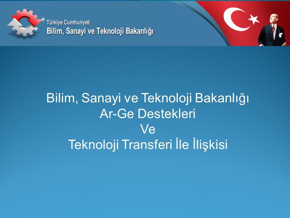 Bilim, Sanayi ve Teknoloji Bakanlığı Ar-Ge Destekleri Ve Teknoloji Transferi İle İlişkisi