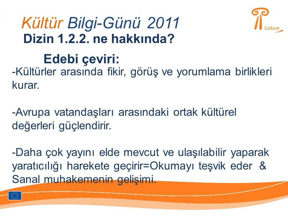 Kültür Bilgi-Günü 2011 Dizin 1.2.2.ne hakkında.