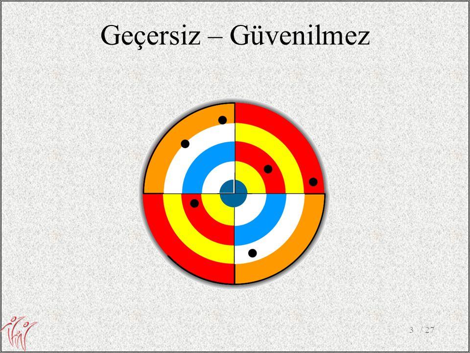 6. Goodness of fit – Likelihood ratio •Ne kadar büyükse model o kadar uyumsuz / 2724