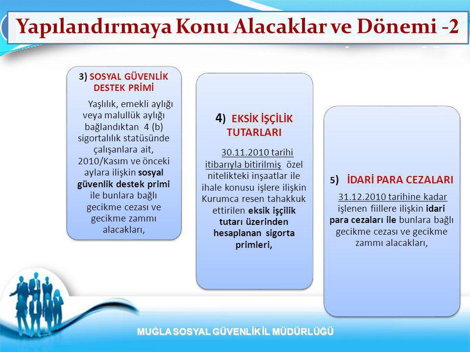 Yapılandırmaya Başvuru Ödeme Süresi ve Şekli-1 1) BAŞVURU SÜRESİ VE ŞEKLİ  02.05.2011 'e kadar müracaat etmeleri şarttır.