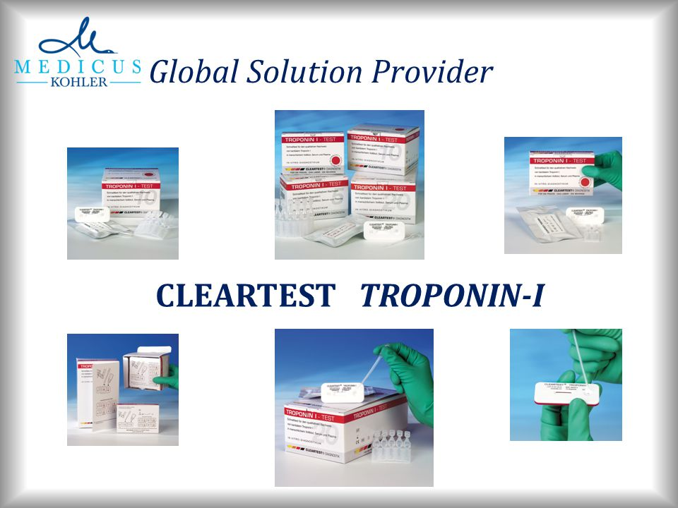 Global Solution Provider CLEARTEST TROPONIN-I