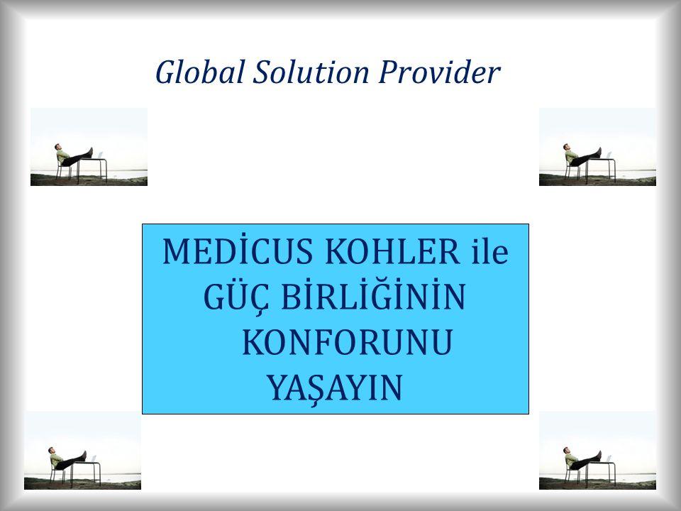 MEDİCUS KOHLER ile GÜÇ BİRLİĞİNİN KONFORUNU YAŞAYIN Global Solution Provider