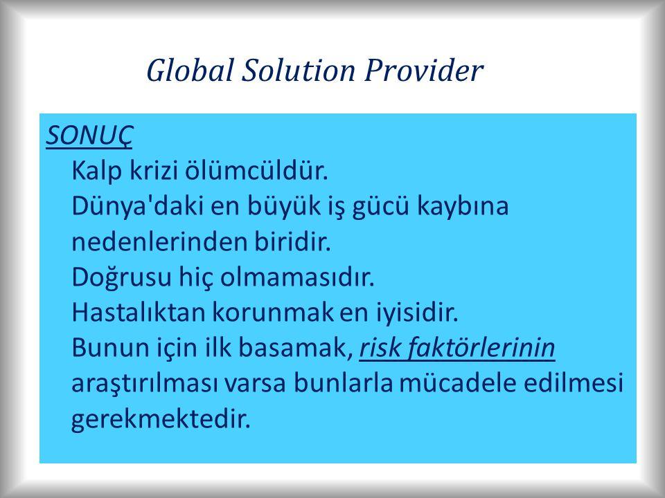 Global Solution Provider SONUÇ Kalp krizi ölümcüldür.