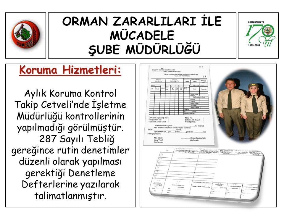 Koruma Hizmetleri: Aylık Koruma Kontrol Takip Cetveli'nde İşletme Müdürlüğü kontrollerinin yapılmadığı görülmüştür.