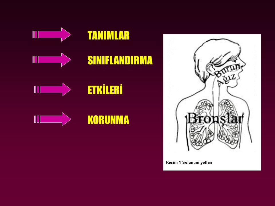 SAĞLIK RİSKLERİ •Asbest vücudumuza 2 yoldan girer.