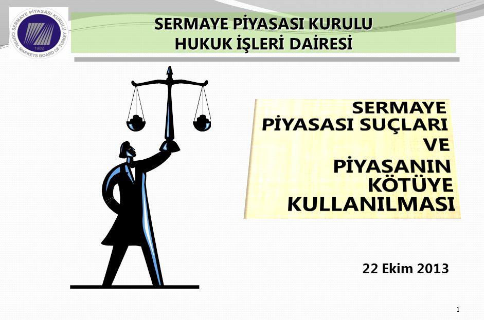 6362 Sayılı yeni Sermaye Piyasası Kanununda (SPKn.) Yaptırımlar Hakkında Kısaca  Piyasa odaklı yaklaşım  Suç teşkil eden fiiller – Kabahatler  Tedbirlerin değişen niteliği  SPKn.'deki üç cezai hüküm  Etkin bir yaptırım sistemi üzerine 2 SUNUM PLANI