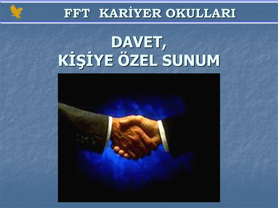 DAVET, KİŞİYE ÖZEL SUNUM FFT KARİYER OKULLARI FFT KARİYER OKULLARI