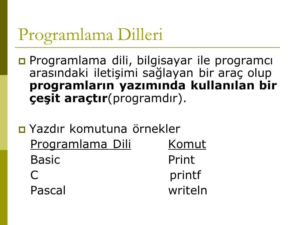 Programlama dilleri programlama dili bilgisayar ile programcı